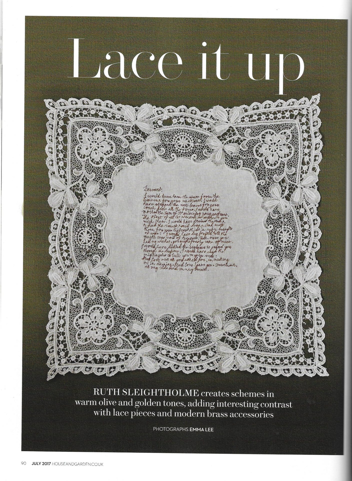 Home & Garden Lace It Up Article