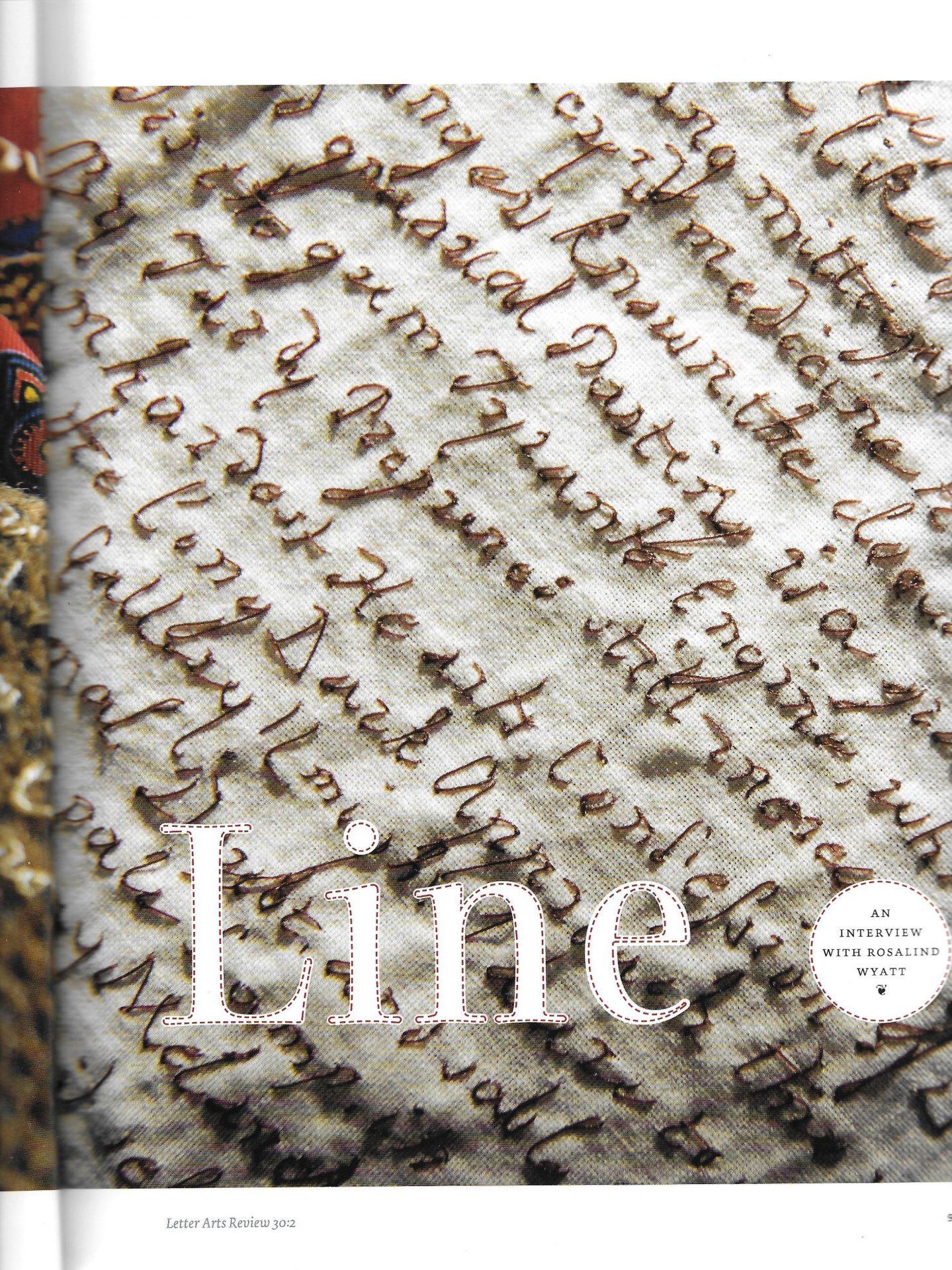 Letter Arts Review Article 2016