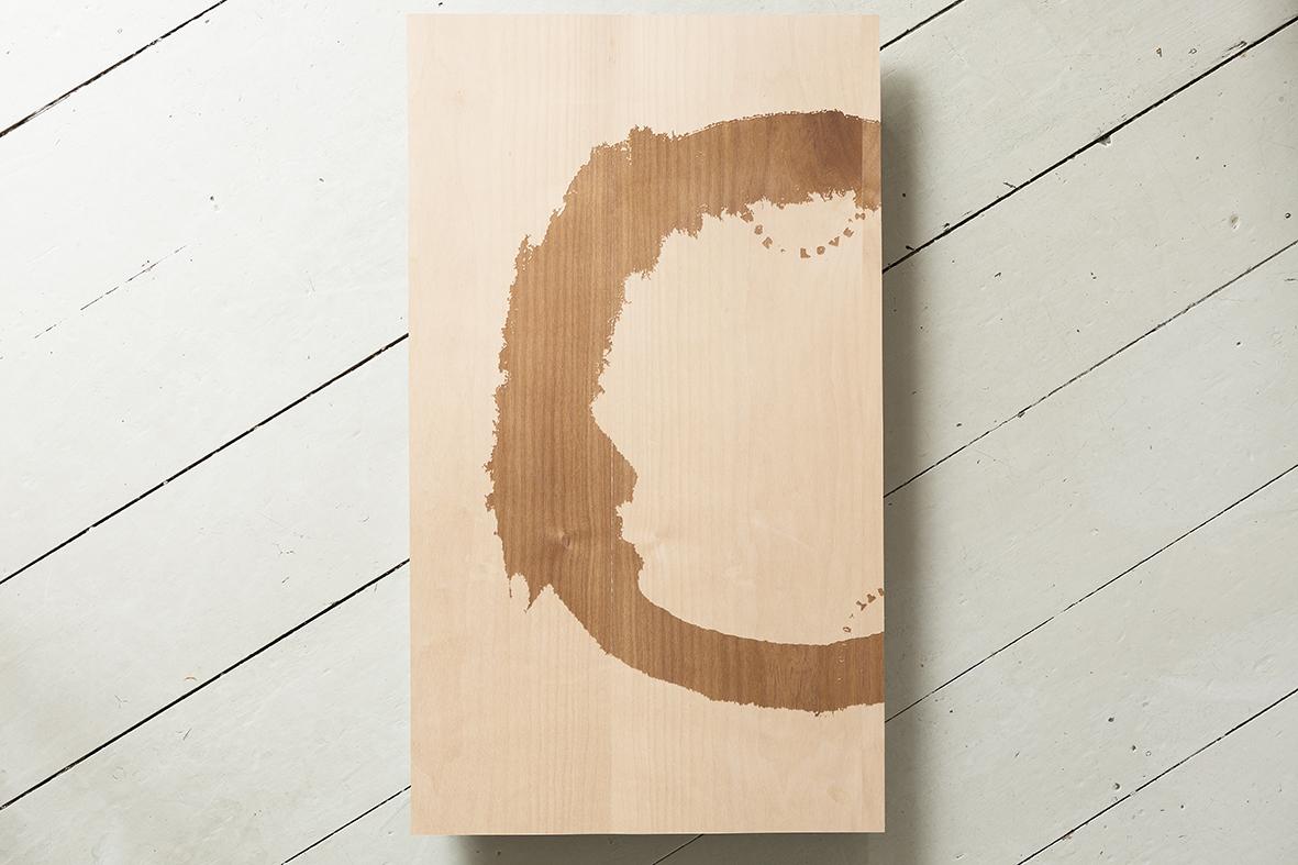 Circle on cherry wood 600cmx340cm