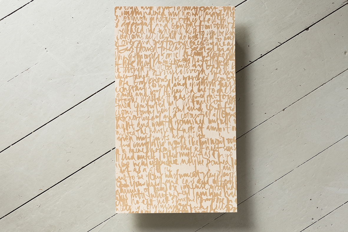 Manifesto on maple wood 500cmx300cm